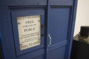 diy Tardis subwoofer batten work door sign